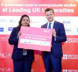 NCUK'S SURAIYA ARSHAD AND BRITISH COUNCIL'S ANDREW GLASS